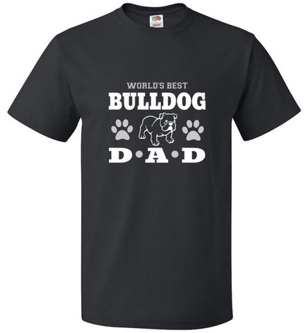 FOL Dog Unisex T-Shirt | World's Best Bulldog Dad - Black