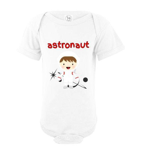 Infant/Baby Bodysuit - Astronaut - White