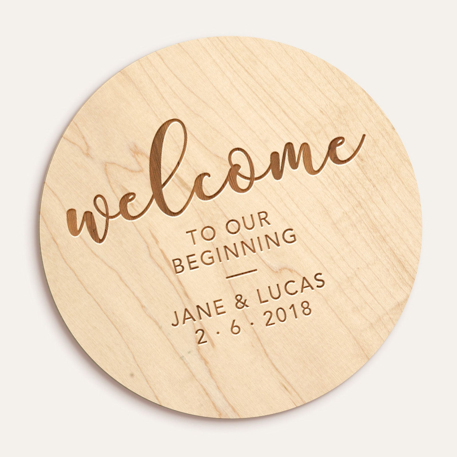 Custom Etched Circle Plaque