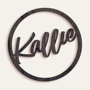 Custom Circle Frame Name/Word Sign