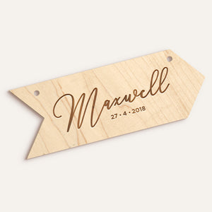 Custom Arrow Etched Name/Date Plaque