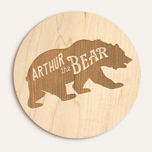 "Custom Etched Name ""The Bear"" Plaque"
