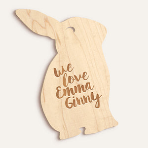 Custom Bunny Name/Word Plaque