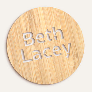 Custom Round Name/Word Plaque - Stencilled