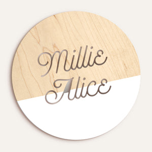 Custom Round Name/Word Plaque - Dipped