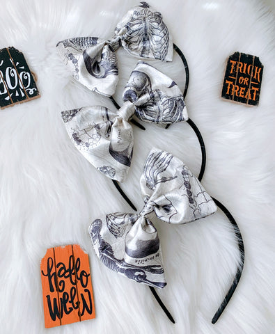 Bad to the Bone baby doll headband