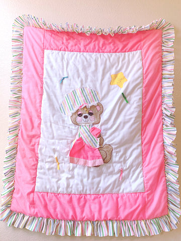 "Large baby bear blanket / wall hanging 31""x38"""