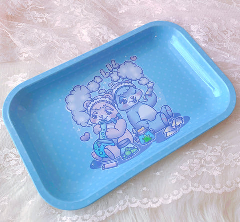 Cloudy Baby Bear Rolling Tray