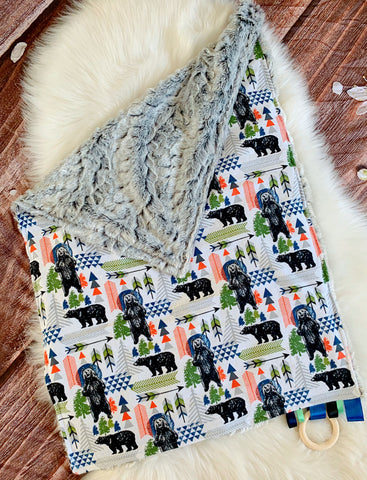 Little bear blankey with luxury faux fur