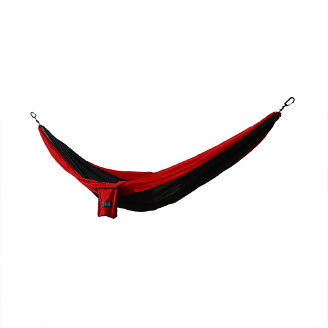Osage River Twain Double Hammock - Black-Red