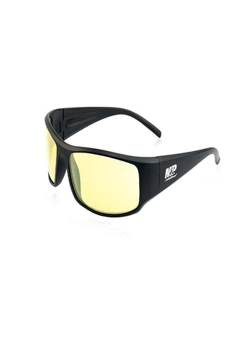 M&P Thunderbolt Full Frame Shooting Glasses Black-Amber
