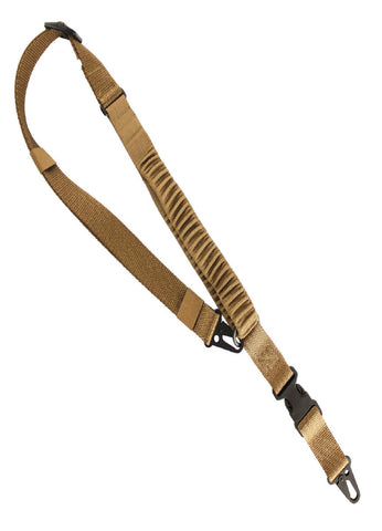 US Tactical C4:  2-to-1 Point Shock Webbing Sling - Coyote