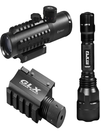 Barks 4x30 IR Electro Sight-Grn Laser-210 Lum LED Flashlight