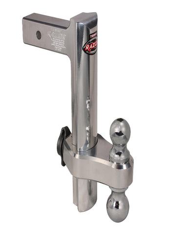 Trimax TRZ12AL Razor 12in Aluminum Adjust Hitch-Dual Ball
