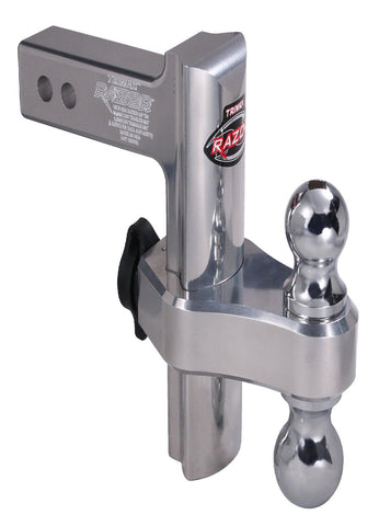 Trimax TRZ8AL Razor 8in Aluminum Adjust Hitch-Dual Ball