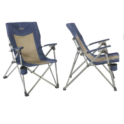 Kamp-Rite 3 Position Hard-Arm Reclining Chair w-Cup Holder
