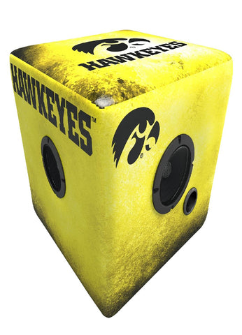 Rainmaker Iowa Hawkeyes Bluetooth Speaker Ottoman-Yellow-Blk