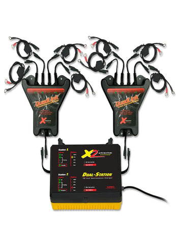 PulseTech Xtreme 8-Station QuadLink Battery Charger Kit