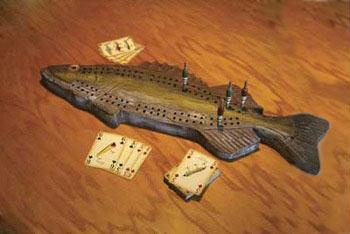 Rivers Edge Walleye Cribbage Set W-Cards 712