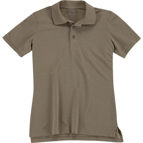 5.11 Womens Utility Polo Silver Tan L