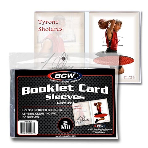 BCW - Booklet Card Sleeves- Vertical