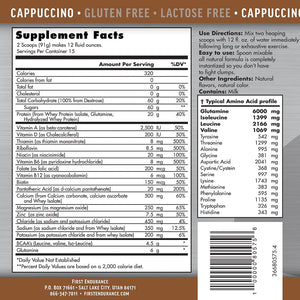 First Endurance Ultragen Recovery Cappucinno, 15 Serving 3lbs