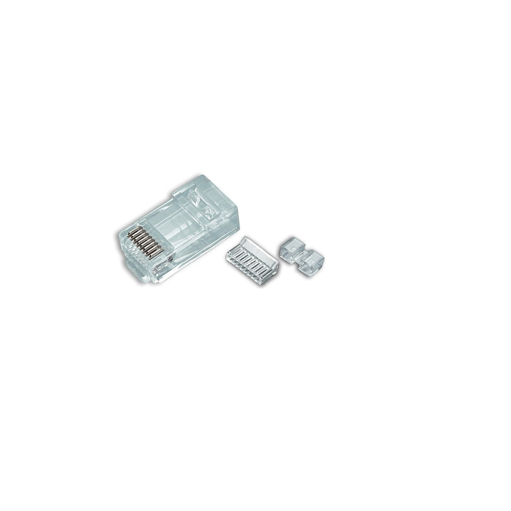 RJ45 Cat6 Plug for Solid 50 Micron 2 prong w/ Inserter 100pk
