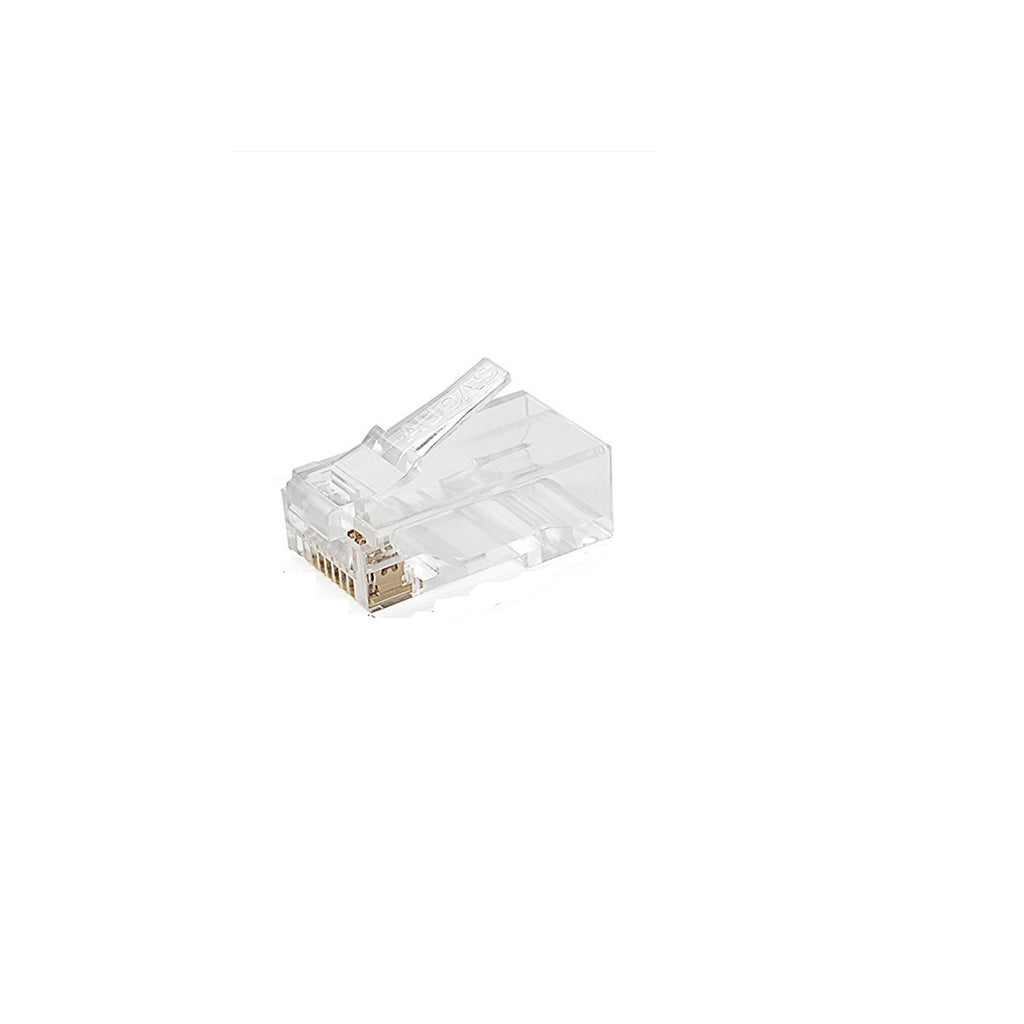 Transparent Cat6 Unshielded Modular Plug 8P8C 3 prong 50u""