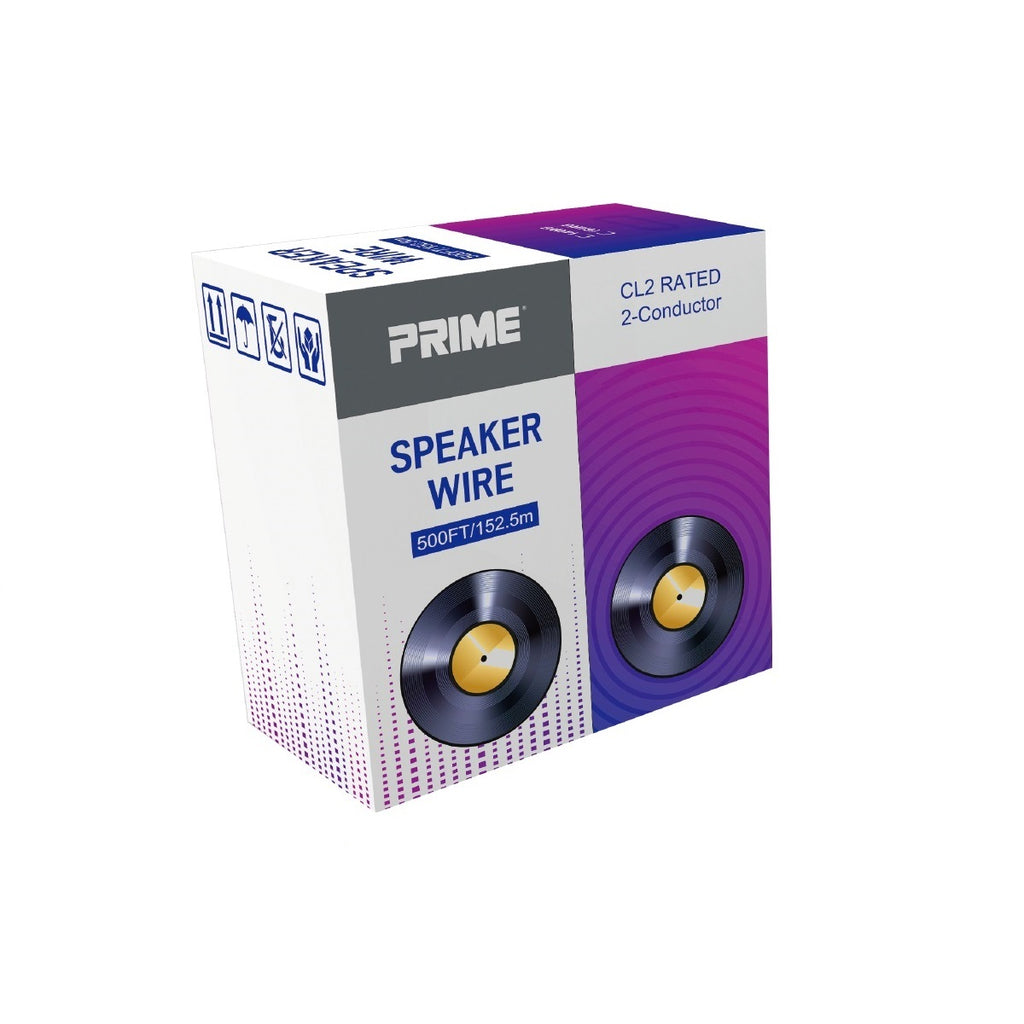 16/2 Speaker Wire Cable Blue 500ft.