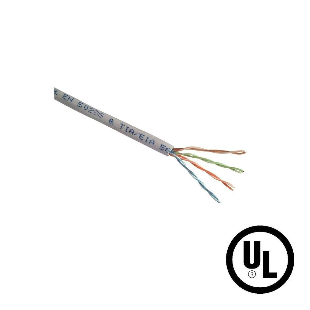 Cat5e UTP 24AWG Solid CMR Bulk Cable, 1000ft, Gray (UL)