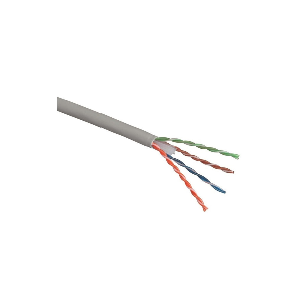 Cat.6 UTP 23AWG Solid CMR Bulk Cable, 1000ft, Gray