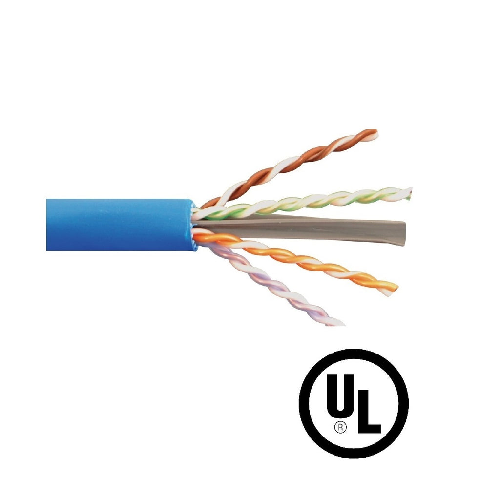 Cat.6 UTP 23AWG Solid CMP Bulk Cable, 1000ft, Blue (UL)