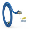Cat5e Booted Patch Cord, 7ft, Blue