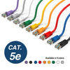 Cat5e Booted Patch Cord, 15ft, Purple