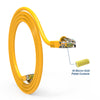 Cat5e Booted Patch Cord, 1ft, Yellow