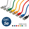 Cat5e Booted Patch Cord, 3ft, Orange