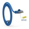 Cat.6A Booted Patch Cord, 15ft, Blue