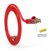 Cat.6A Booted Patch Cord, 7ft, Red