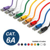 Cat.6A Booted Patch Cord, 15ft, Purple