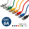 Cat.6A Booted Patch Cord, 5ft, Yellow