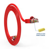 Cat.6 Booted Patch Cord, 10ft, Red