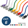 Cat.6 Booted Patch Cord, 100ft, Purple