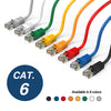Cat.6 Booted Patch Cord, 7ft, Green