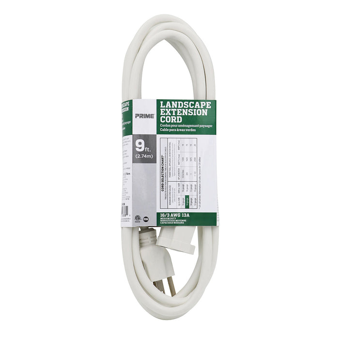 9ft 16/3 SJTW <br />Landscape Extension Cord
