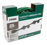 25ft 14/3 STW 3-Outlet <br />(Two In-Line Outlets) <br />Landscape Extension Cord