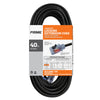 40ft 16/3 SJTW Jobsite® <br />Outdoor Extension Cord <br />w/Locking & Lighted Connector