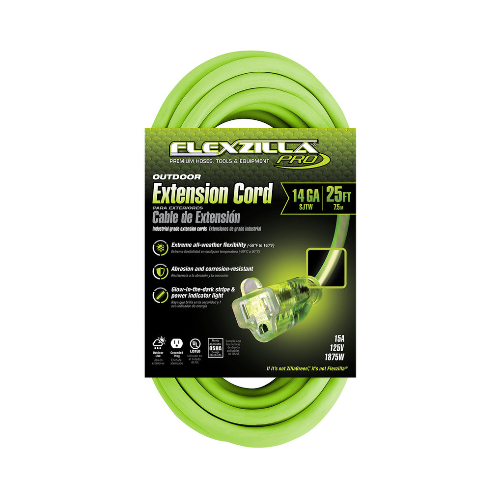 25ft 14/3 SJTW<br />Flexzilla® Pro<br />Outdoor Extension Cord