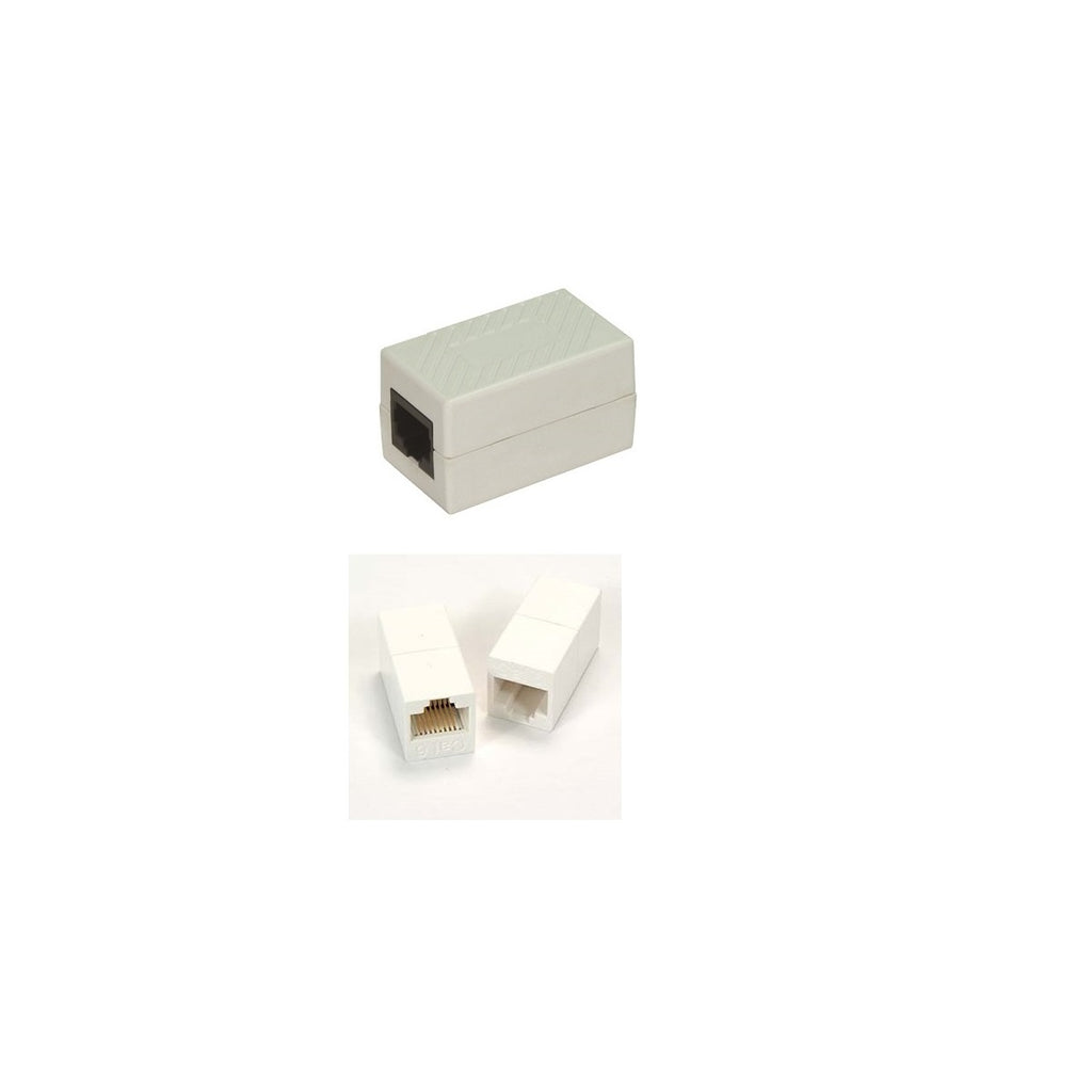Cat6 In-line Coupler, White