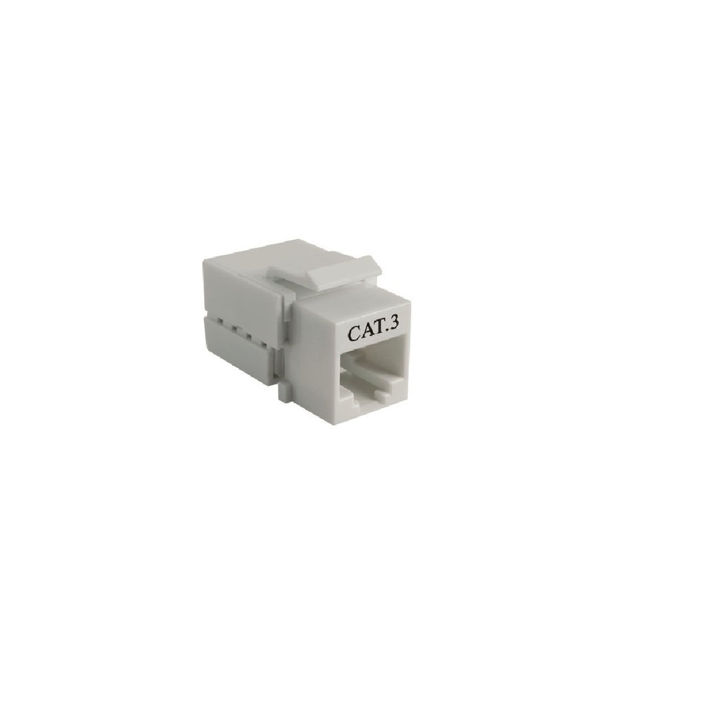 Cat3 90° Unshielded Keystone Jack 110 Type IDC, Ivory