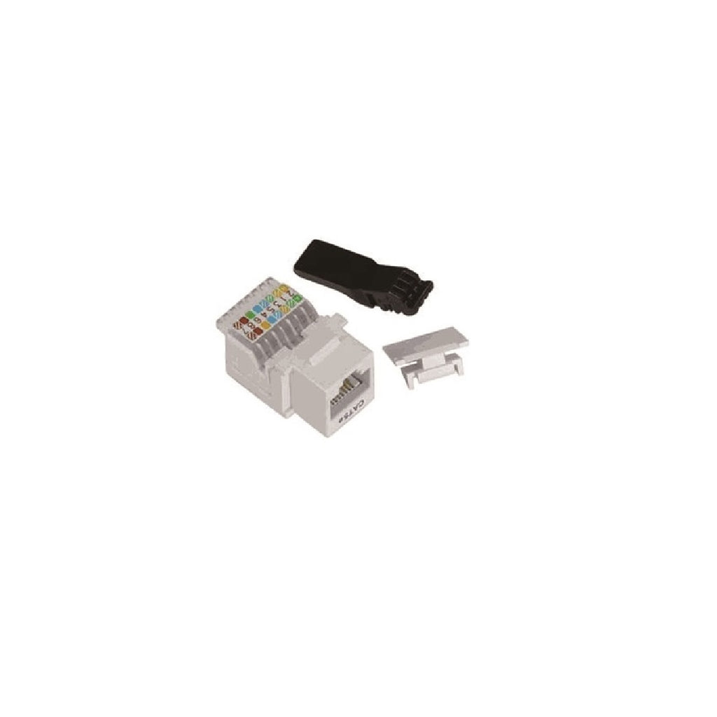 Cat5e 90° Unshielded Keystone Jack 110 Type IDC, Ivory